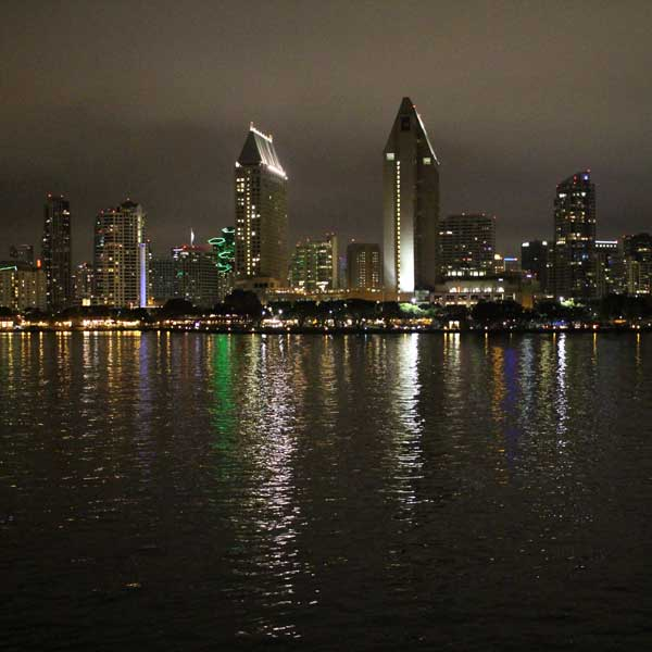 San Diego skyline you can only see from the water.