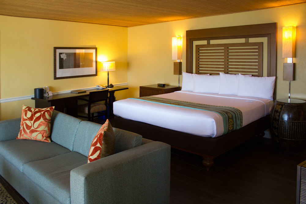 Beautiful and recently updated rooms at the Paradise Point Resort