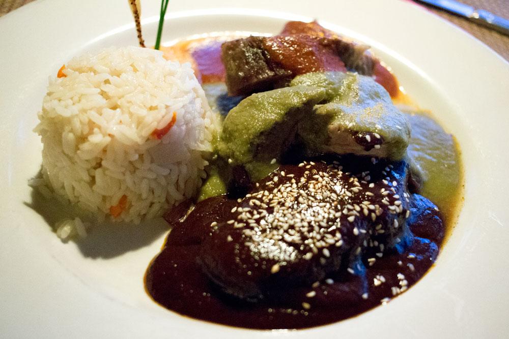 El Agave's specialty, mole.