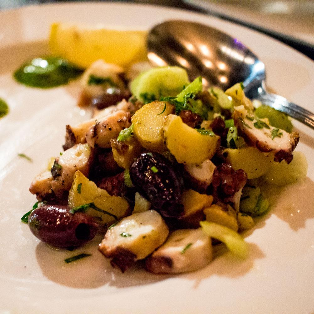 isola pizza bar octopus salad san diego