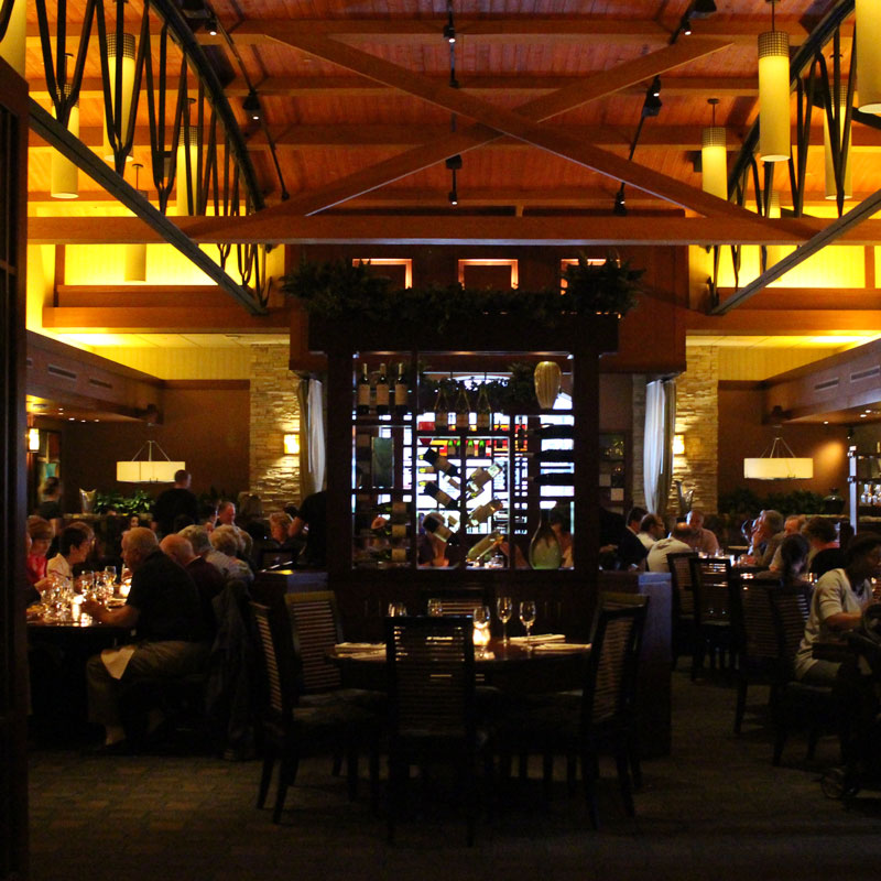 Nice dining room at Seasons 52 in San Diego's Seaport Village