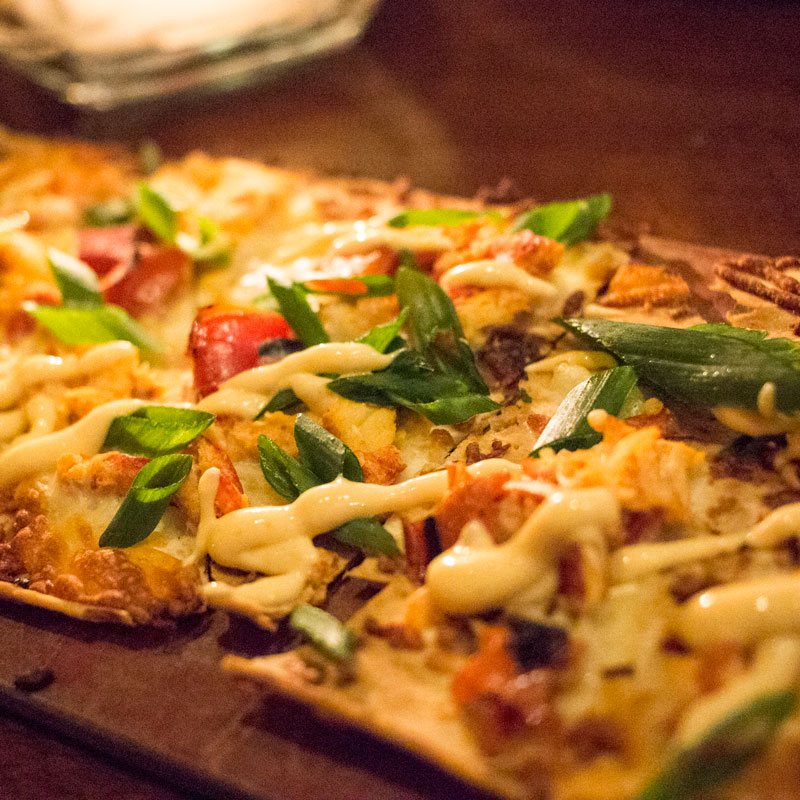 Lobster and Mozzarella Flatbread