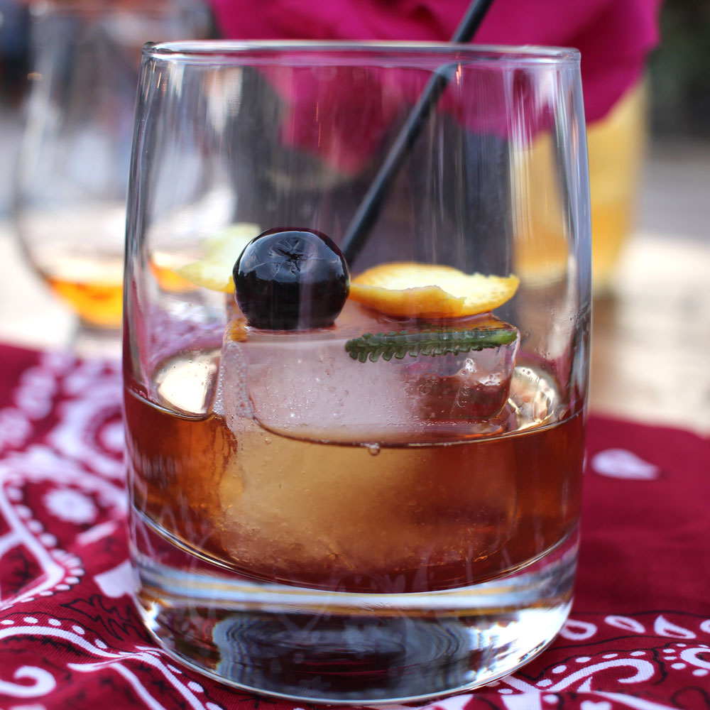 Perfect Old Fashioned Cocktail at Estancia La Jolla Wine & Whiskey BBQ Event