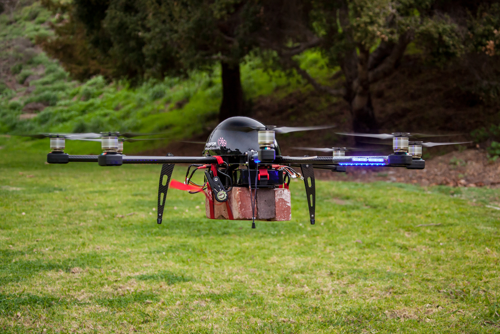 service drone skycrane brick lift