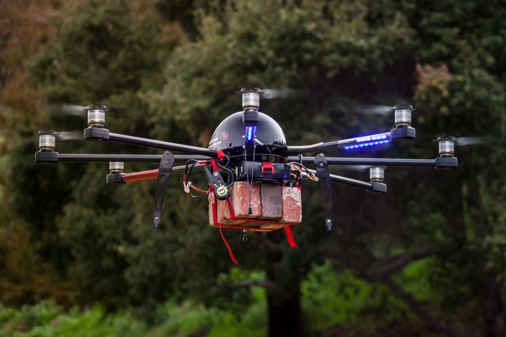 service-drone skycrane brick lift