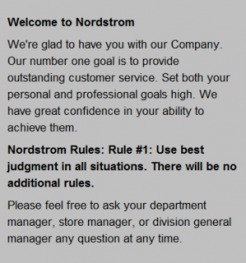 Nordstoms employee manual