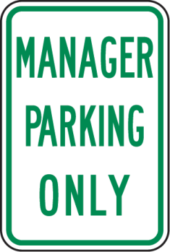 manager parking