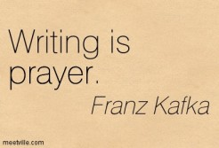 writing is prayer