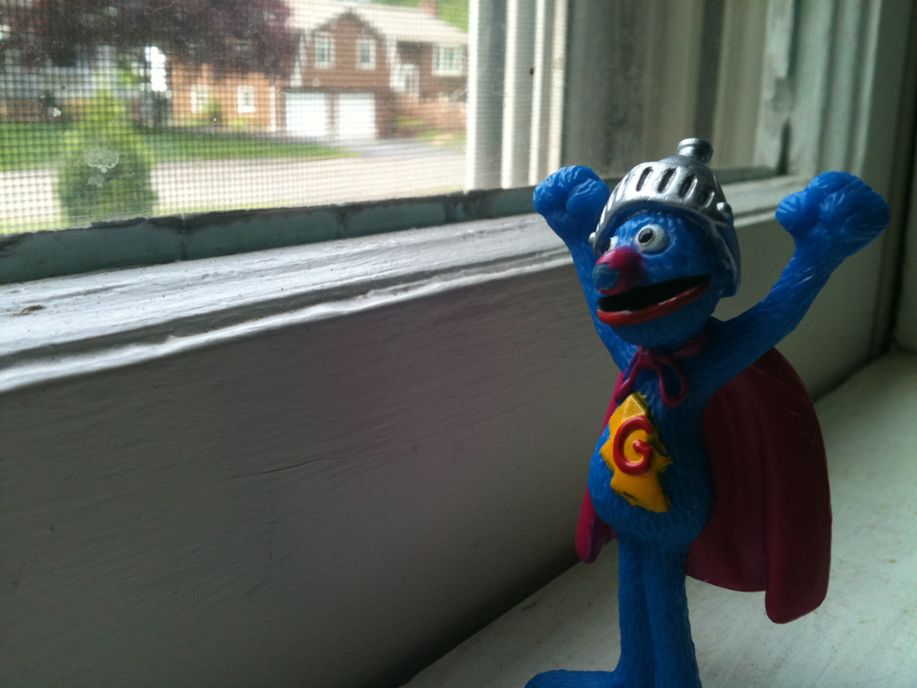 Super Grover Playing Saint Peter Matthew Dicks Cuddle Me Pajamas Elmo Look And Find Image