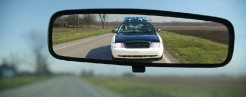 cops rear view mirroe