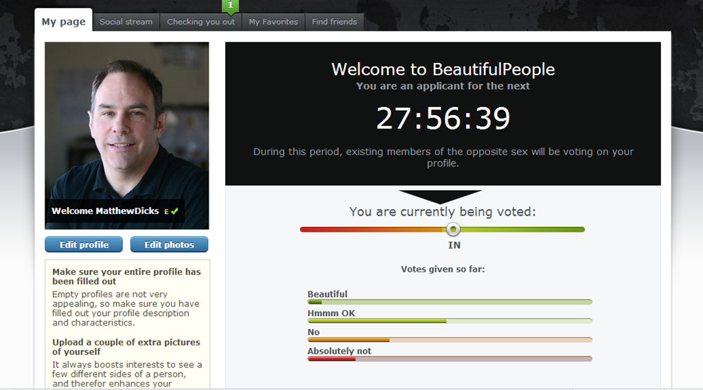 336163b91f2 I applied for BeautifulPeople.com