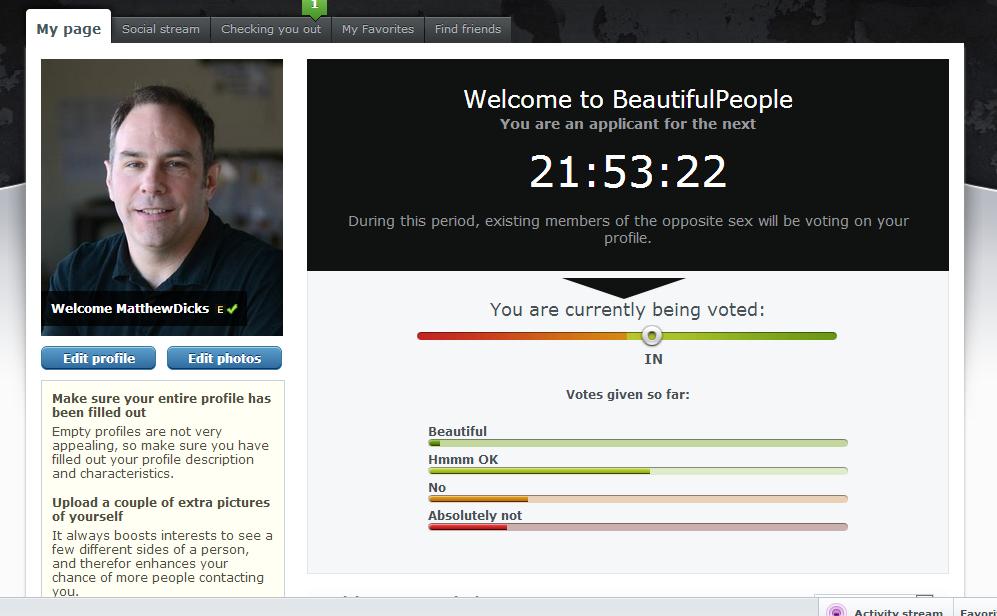Beautiful people com dating site