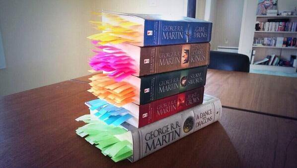 Every Death In A Song Of Ice And Fire Displayed In Rainbow Like
