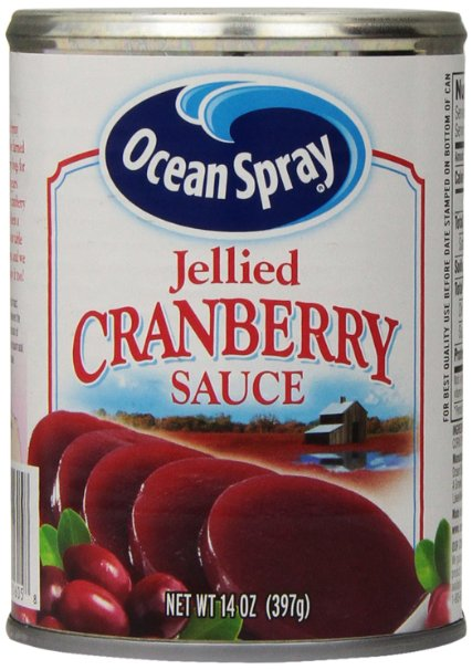 Essay description of cranberry sauce on the plate