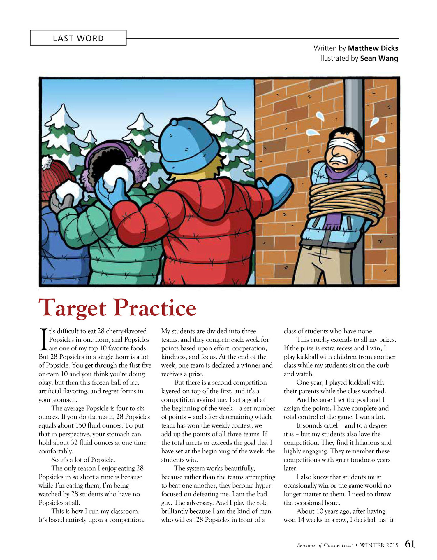 e5571aa2b Target Practice - Seasons: Winter 2015 — Matthew Dicks