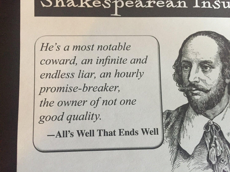 Shakespeares Words Seem Rather Appropriate Even Today Matthew Dicks