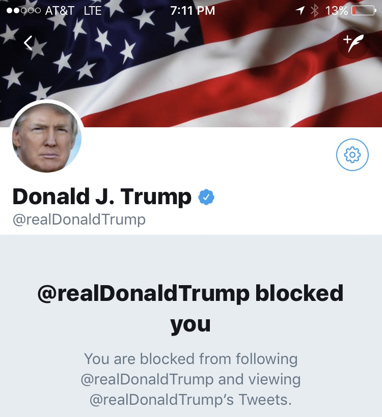 a00f48b1eeb0 Trump can t be banned from Twitter