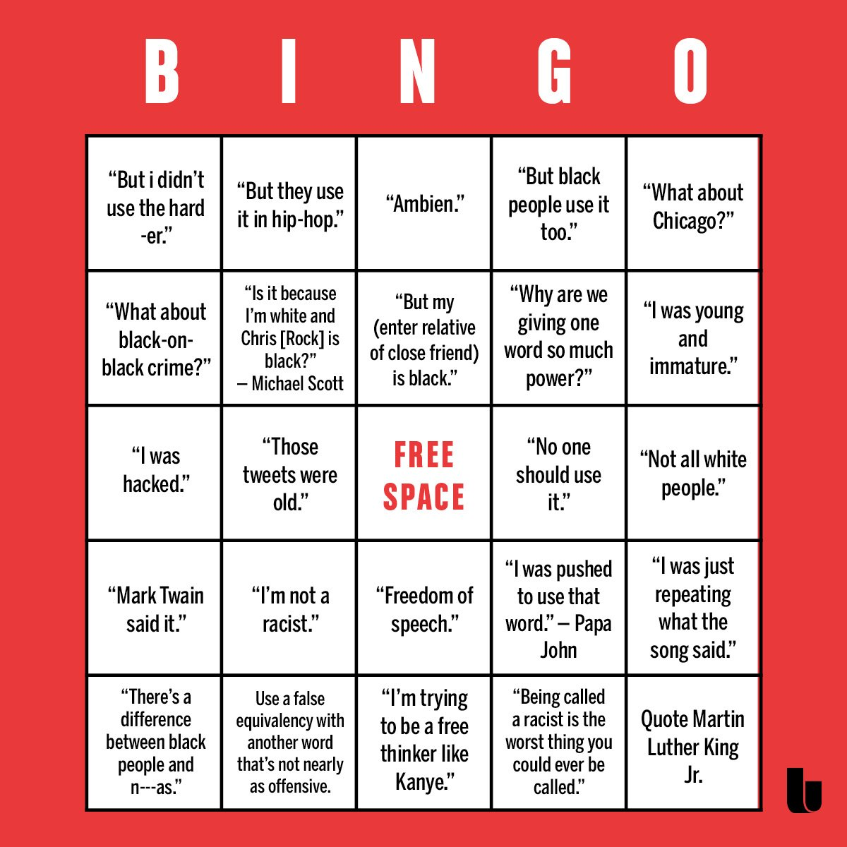 N-word bingo — Matthew Dicks 7143e0a53
