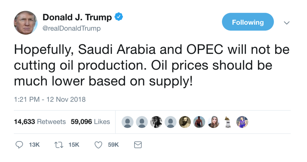 Trump Has Solutions For Rising Oil Prices A Falling Stock Market