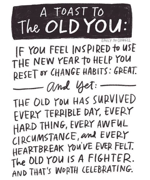Old me is okay, too  — Matthew Dicks