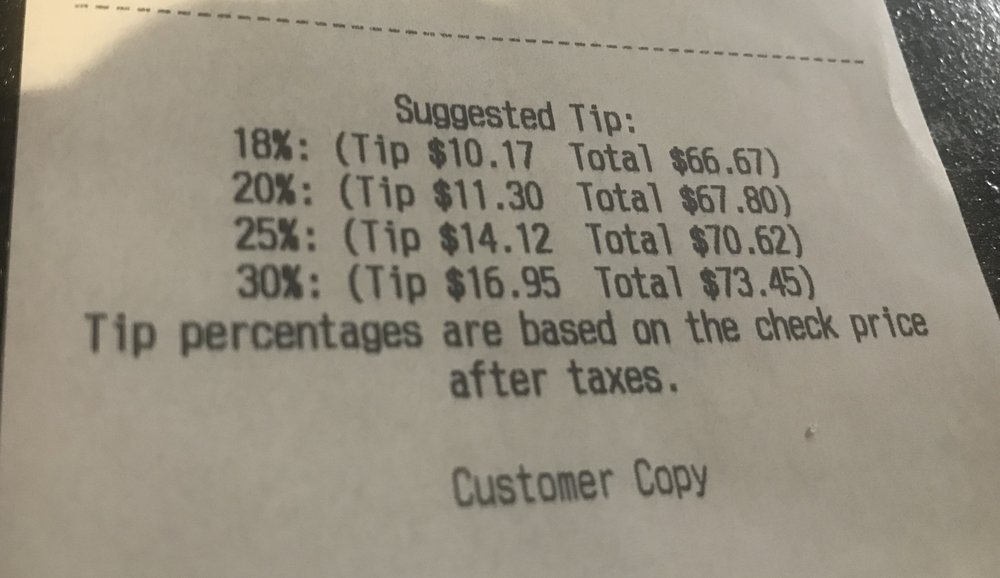 fa8564b11905 I have opinions on a suggested 30 percent tip — Matthew Dicks