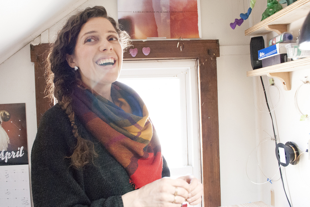 Hannah Hoffman, jewelry designer and metalsmith