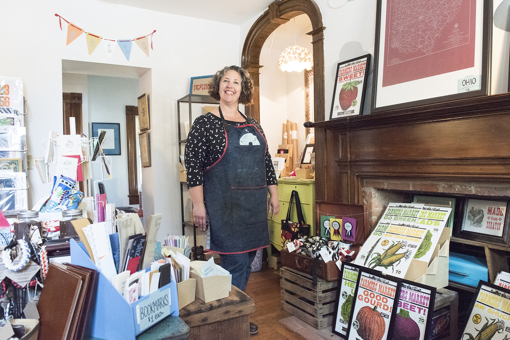 The Snow House is the gift shop for Igloo Letterpress. They also carry goods from local artists.