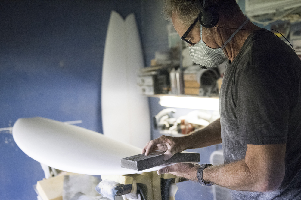 Tim Bessell, custom surfboard shaper