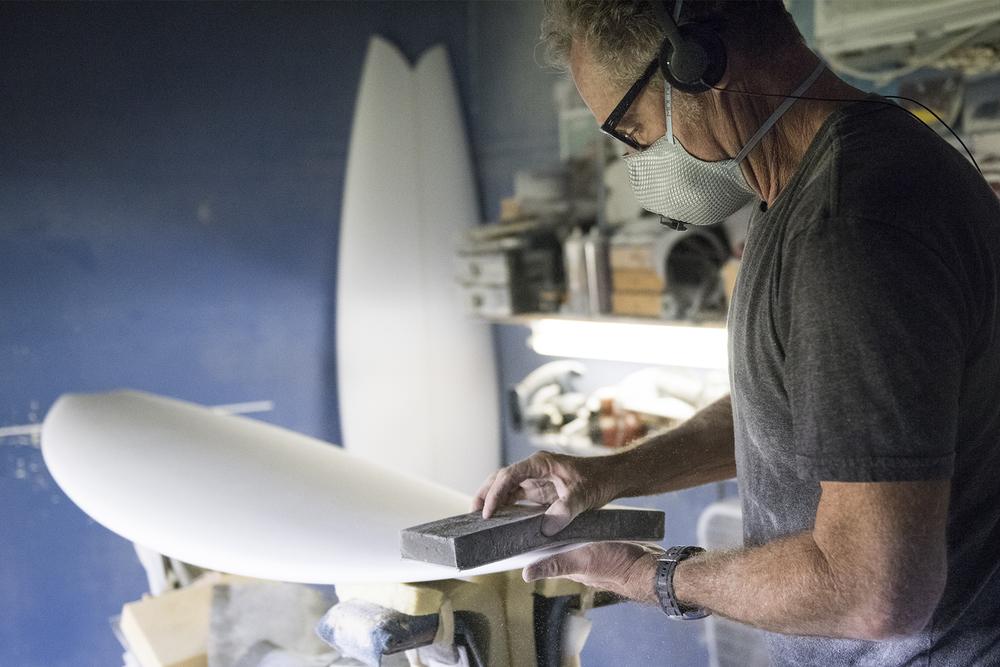 Tim Bessell, custom surfboard shaper