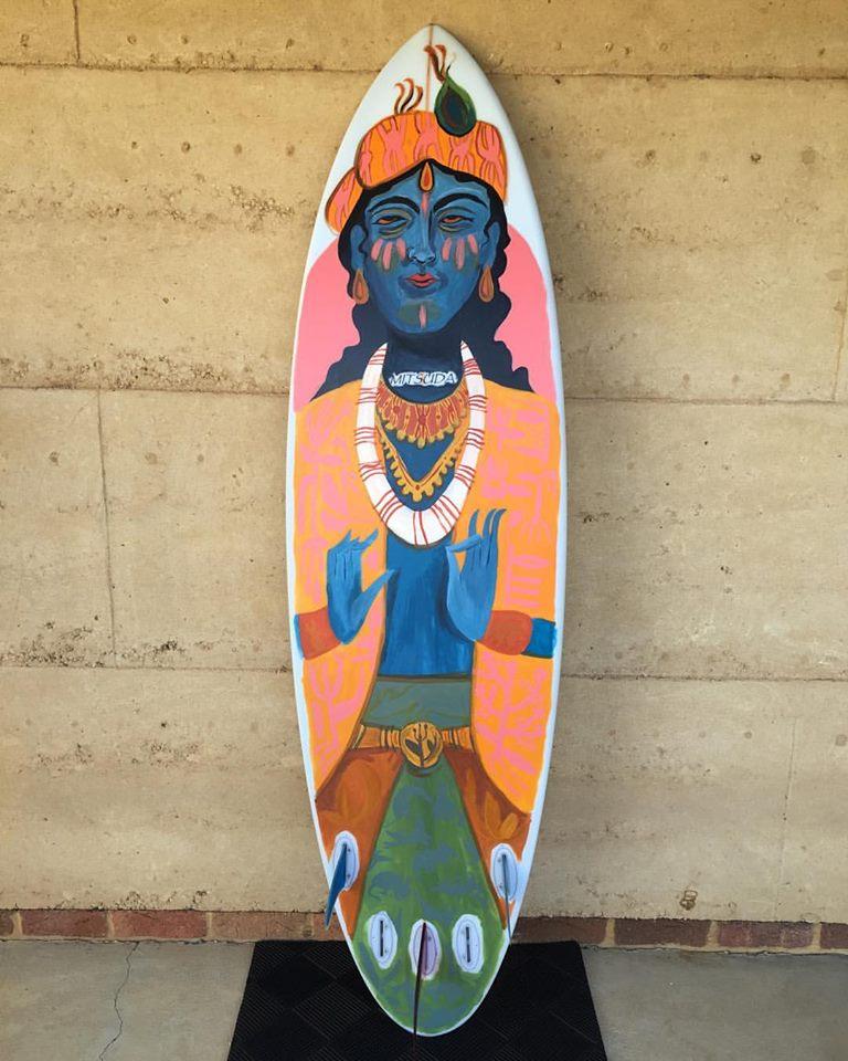 edie mitsuda surfboard painting