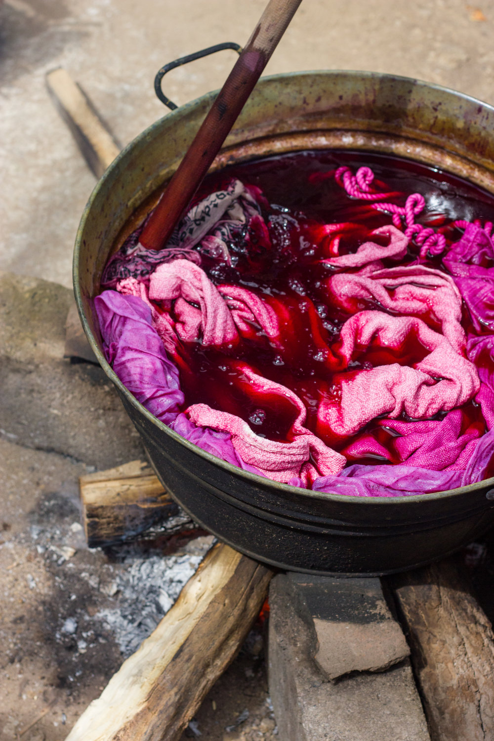 cochineal in the dye vat oaxaca mexico by thread caravan leah pellegrini