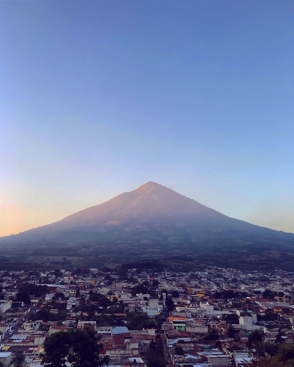 Sunrise over Antigua and Volcano Agua in Guatemala by Luna Zorro Thread Caravan.jpg