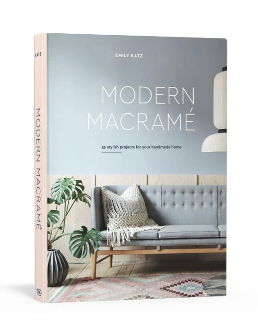 modern macrame book cover