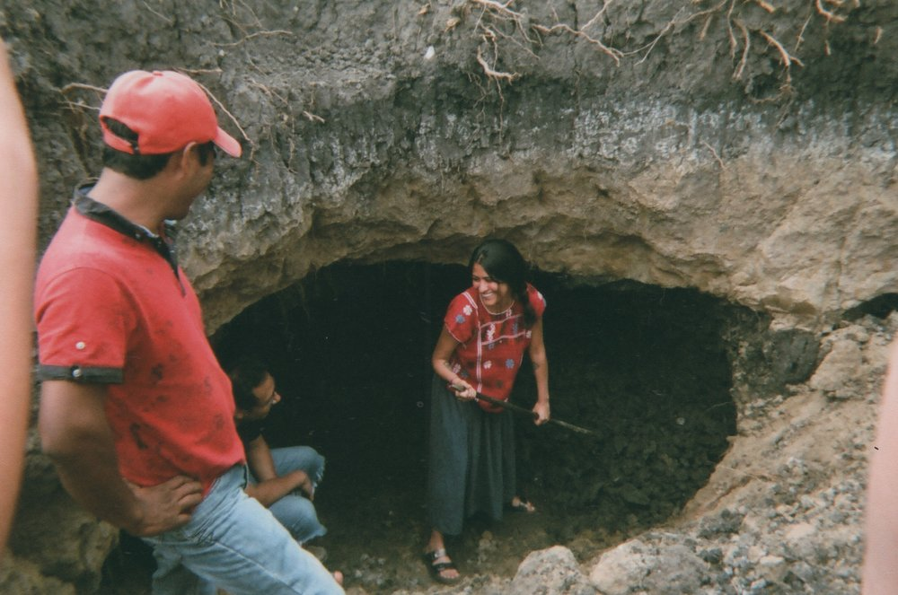 tais and goyo in the clay mine oaxaca by kelly framel.jpeg