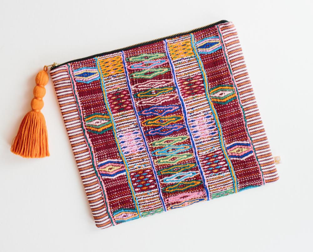 travel patterns colotenango woven pouch