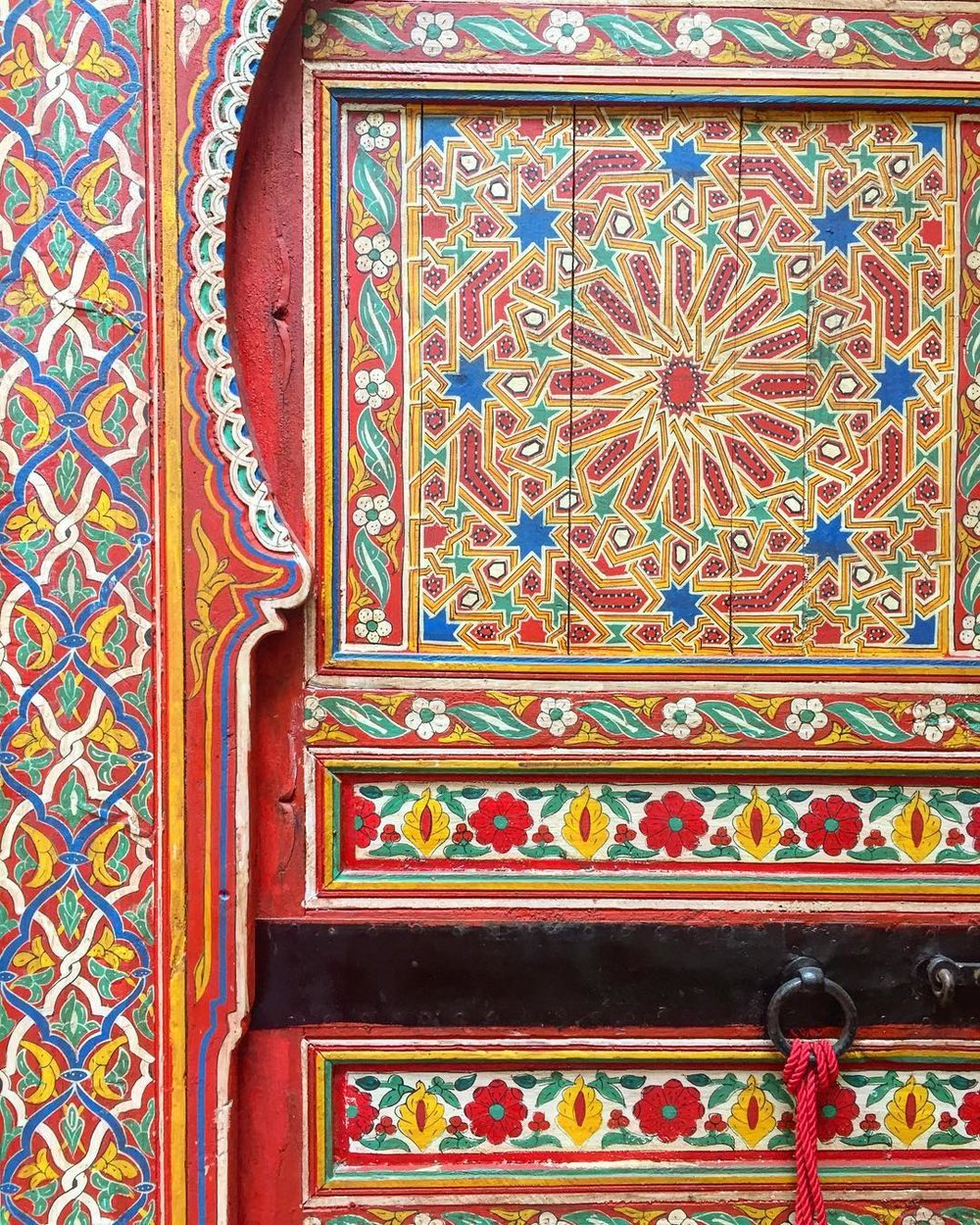 jewish painted door fez morocco thread caravan.jpg