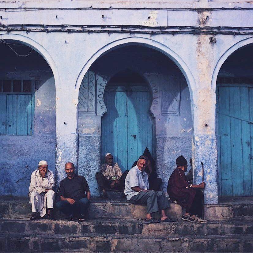 men in blue city chefchaouen morocco by thread caravan.jpg