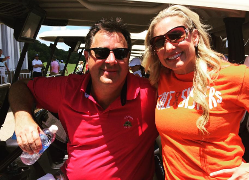 Vince Gill and Julie Roberts at the Bob Mueller MS Celebrity Golf Scramble - June 2015
