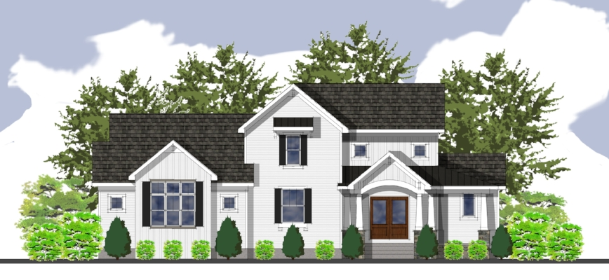 a formal rendering completes the design process enabling the home owner to clearly visualize the outcome.