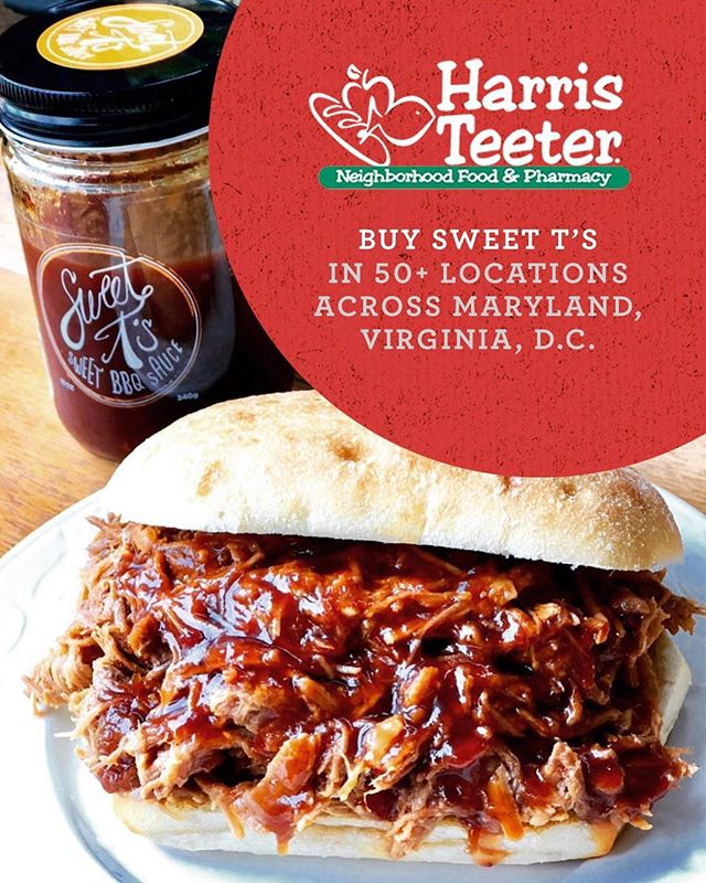 Where's all of our DMV followers at? You can now purchase @sweetts_kitchen signature BBQ Sauce at over 50+ @harristeeter locations. We really got the sauce now. 😂 #gotsauce #toomuchsauce #sweettskitchen