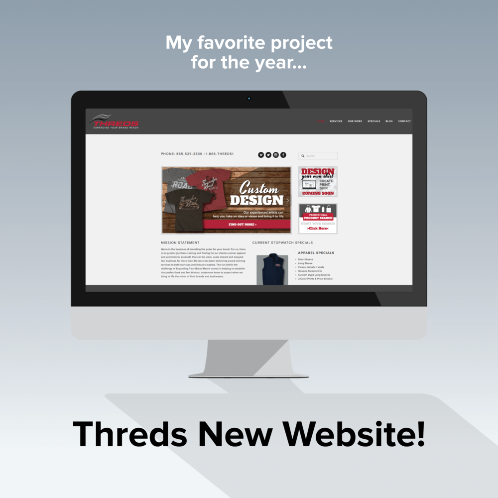 Threds' new website has an updated look and more functionality.