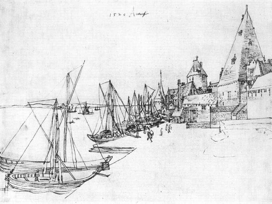 Albrecht Durer - Antwerp Harbour