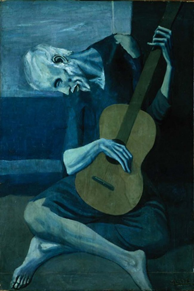 Picasso - The Old Guitarist (from his blue period)