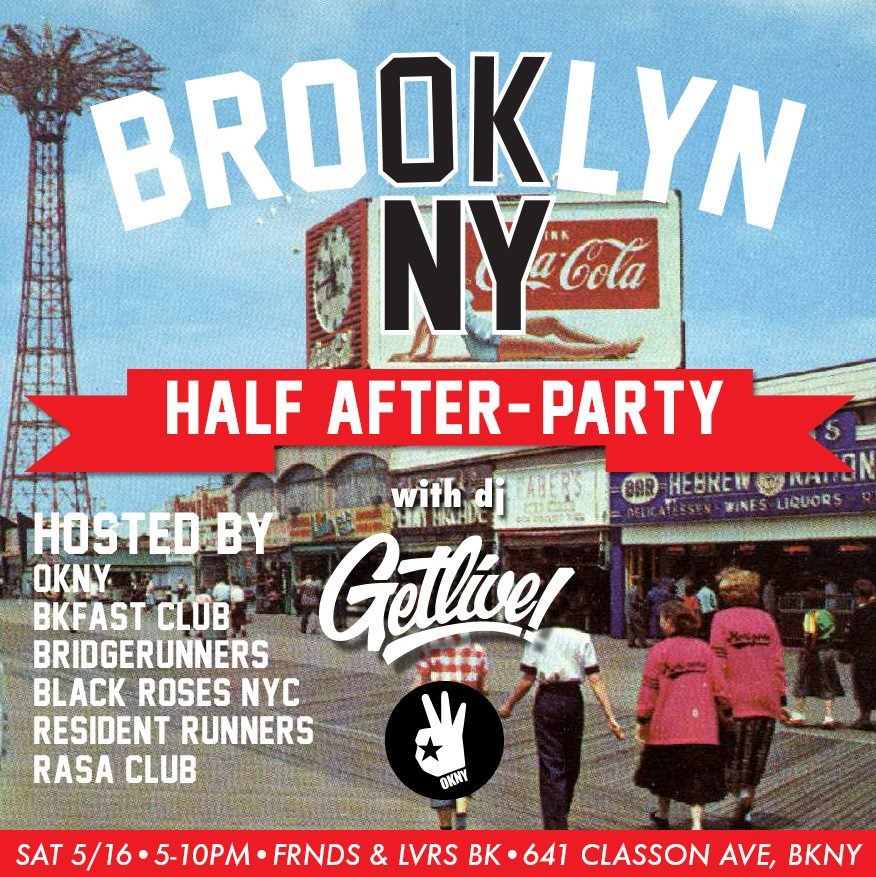 Promo for Brooklyn Half Marathon Afterparty event