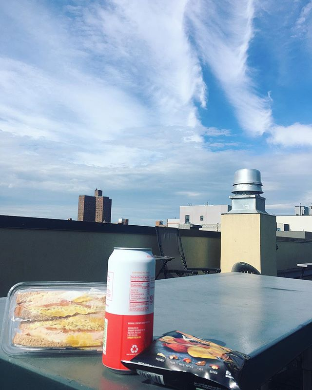 Quick lunch on my roof (haven't had a sandwich in ages).