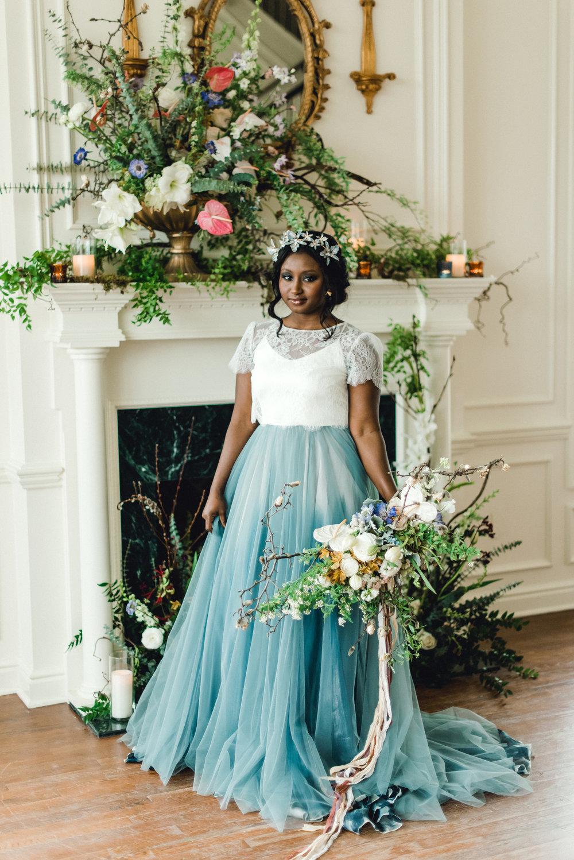 African American Bride in Blue Gown.jpg