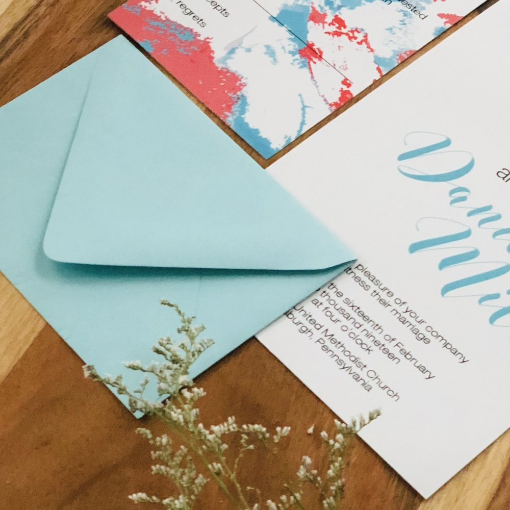 Living-Coral-and-Sea-Blue-Wedding-Invitation-K-Flowers-Designs