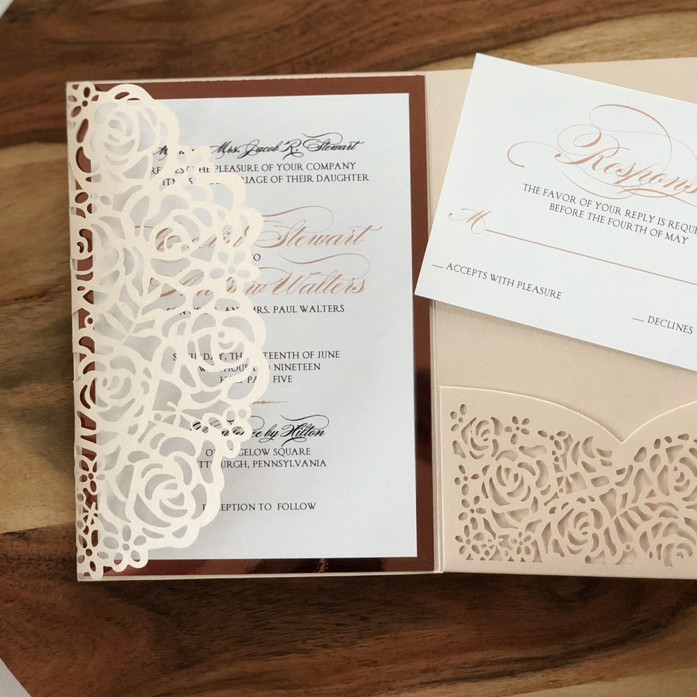 Rose-pattern-laser-cut-wedding-invitations-by-k-flowers-designs