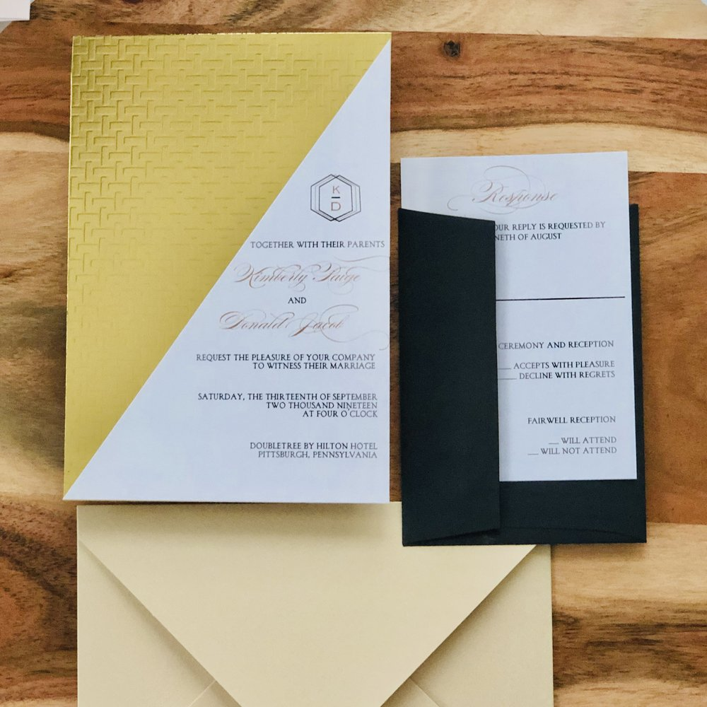 Modern-Glam-Black-and-Gold-Wedding-Invitation-by-K-Flowers-Designs2