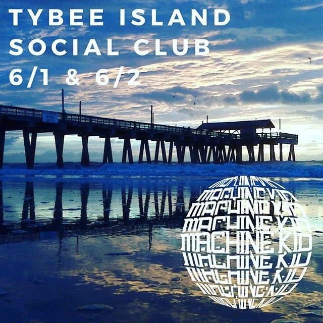 We've got our sights set on Tybee Island this weekend for two free shows at Tybee Island Social Club! Savannah peeps look out! @tybeesocialclub